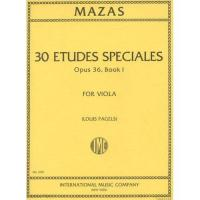 Mazas Etudes Speciales Opus 36, Book I For Viola (Louis pagels) - International Music Company