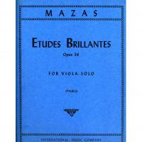 Mazas Etudes Brillantes Opus 36 For Viola Solo (Pagels) - International Music Company