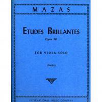 Mazas Etudes Brillantes Opus 36 For Viola Solo (Pagels) - International Music Company
