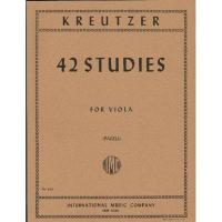 Kreutzer 42 Studies for Viola (Pagels) - International Music Company