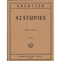 Kreutzer 42 Studies for Viola (Pagels) - International Music Company