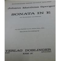 Matthias Sperger SONATA IN E - Verlag Doblinger