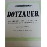 Dotzauer 113 Exercises for violoncello (Klingenberg) BOOK IV (No. 86-113) - Edition Peters