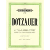 Dotzauer 113 Exercises for violoncello (Klingenberg) BOOK III (No. 63-85) - Edition Peters