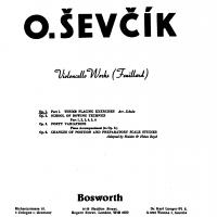 Sevcik Violoncello Works Op. 1 Thumb Placing Exercise - Bosworth