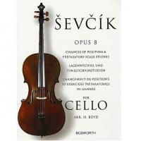 Sevcik Op. 8 Changes of position and preparatory scale studies for Cello - Bosworth