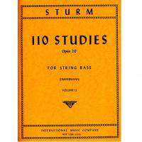 Sturm 110 Studies Opus 20 for String Bass (Zimmermann) Volume II - International Music Company