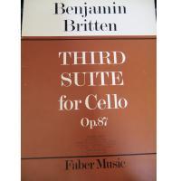 Benjamin Britten Third Suite for Cello Op. 87 - Faber Music