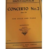 Shostakovich Concerto No. 2 Opus 125 For Cello and Piano (Rostropovich) - International Music Company