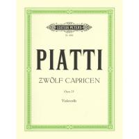 Piatti Zwolf Capricen Opus 25 Violoncello - Edition Peters