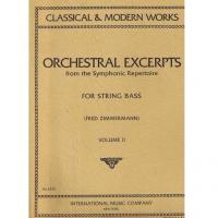 Classical e Modern Works Orchestral Excerpts from the Symphonic Repertoire for string bass (Zimmermann) Volume II - International Music Company