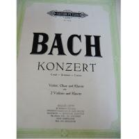 Bach Konzert C minor Violine Oboe Klavier - Edition Peters