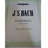 Bach Concerto C minor Violin and Oboe (2 Violins) - Edition Peters