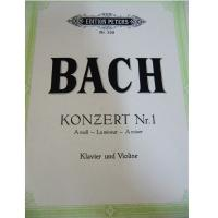 Bach Konzert Nr. 1 A moll La mineur A minor Klavier und Violine - Edition Peters