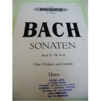 Bach Sonaten Band II : Nr 4-6 Violine und Cembalo Urtext - Edition Peters