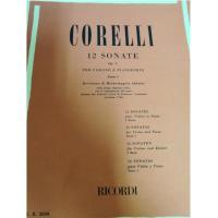 Corelli 12 Sonate Op. V Per violino e pianoforte Parte I - Ricordi