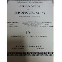 Crickboom Chants et morceaux pour violon et piano IV - Schott Freres