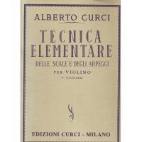 Curci Tecnica Elementare delle scale e degli arpeggi per violino (I. Posizione) - Edizioni Curci Milano
