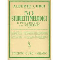 Curci 50 Studietti Melodici e progressivi per Violino Op. 22 - Edizioni Curci Milano