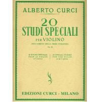 Curci 20 Studi Speciali per Violino (Nell'ambito della prima posizione) Op. 24 - Edizioni Curci Milano