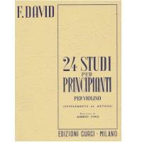 David 24 Studi per Principianti per violino (Supplemento al metodo) - Edizioni Curci Milano