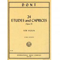 Dont 24 Etudes and Caprices Opus 35 For Violin (Carl Flesh) - International Music Company