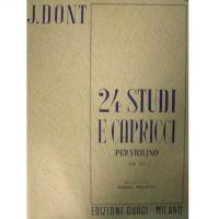 Dont 24 Studi e Capricci per violino (Op. 35) Arrigo Pelliccia - Edizioni Curci Milano