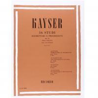 Kayser 36 Studi Elementari e progressivi Op. 20 Per Violino Fasc II : 12 Studi (Zanettovich) - Ricordi