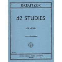 Kreutzer 42 Studies for Violin (Ivan Galamian) - International Music Company
