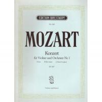 Mozart Konzert fur Violine und Orchester Nr. 1 B dur KV 207 - Edition Breitkopf