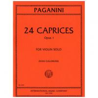 Paganini 24 Caprices Opus 1 For Violin Solo (Ivan Galamian) - International Music Company