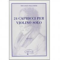Paganini 24 Capricci per violino solo Urtext - Carisch