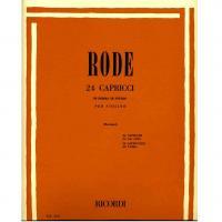 Rode 24 Capricci in forma di studio per violino (Borciani) - Ricordi
