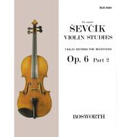 Sevcik Violin Studies Op. 6 Part 2 Violin method for beginners - Bosworth