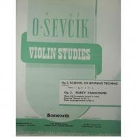Sevcik Violin Studies Op. 2 Part 2 School of Bowing Technic - Bosworth