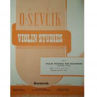 Sevcik Violin Studies Opus 6 Part 4 Violin Method for beginners (semitone system) - Bosworth