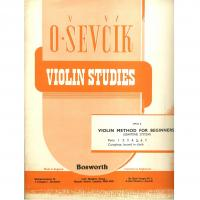 Sevcik Violin Studies Opus 6 Part 5 Violin Method for Beginners (semitone system) - Bosworth