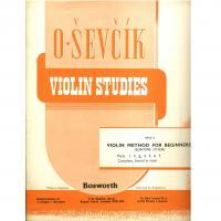 Sevcik Violin Studies Opus 6 Violin Method for Beginners (semitone system) - Bosworth