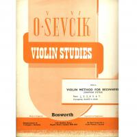 Sevcik Violin Studies Opus 6 Part 1 Violin Method for Beginners (Semitone System) - Bosworth