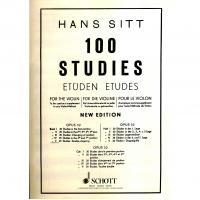 Han Sitt 100 Studies Etudes Opus 32 Book V - Schott