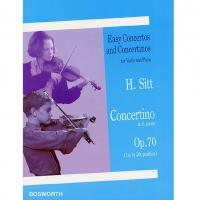 H. Sitt Easy Concertos and Concertinos for Violin and Piano Concertino In A Minor Op. 70 (1st to 5th position) - Bosworth