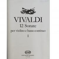 Vivaldi 12 Sonate per violino e basso continuo I - Editio Musica Budapest