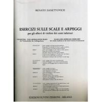 Zanettovich Esercizi sulle scale e arpeggi per gli allievi di violino dei corsi inferiori III Fascicolo - Edizioni Suvini Zerboni Milano