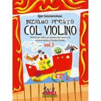Egon Sassmannshaus Iniziamo presto Col Violino Metodo per violino per bambini dai 4 anni in su versione italiana di Dorotea Vismata Vol. 1 - Curci Young