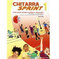 Chitarra Sprint 1 Il mio primo metodo di chitarra...divertente! Dai 6 anni - Volontè & Co