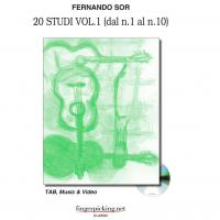 Fernando Sor 20 Studi Vol. 1 (dal n. 1 al n. 10 ) TAB, Music & Video - fingerpicking.net CLASSIC