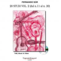 Fernando Sor 20 Studi Vol. 2 (dal n. 11 al n. 20 ) TAB, Music & Video - fingerpicking.net CLASSIC