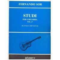 Fernando Sor Studi per chitarra Vol. 2° (Gangi-Carfagna) - Bèrben