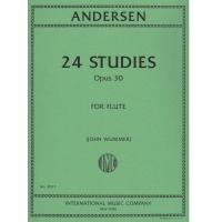Andersen 24 Studies Opus 30 For Flute (John Wummer) - International Music Company