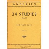 Andersen 24 Studies Opus 33 For Flute Solo (Wummer) - International Music Company